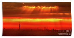 Beach Towel featuring the photograph Morning Glow by Tatsuya Atarashi