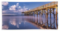 Beach Towel featuring the photograph Morning Gold - Isle Of Palms, Sc by Donnie Whitaker