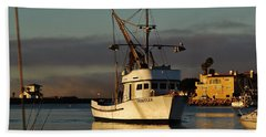 Morning Harbor Light Beach Towel