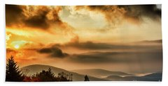 Morning Highland Scenic Highway Beach Towel by Thomas R Fletcher