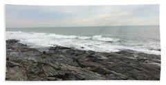 Morning Horizon On The Atlantic Ocean Beach Sheet by Patricia E Sundik