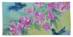 Morning In My Garden. Special Collection For Your Home Beach Towel by Oksana Semenchenko