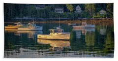 Beach Towel featuring the photograph Morning In Tenants Harbor by Rick Berk