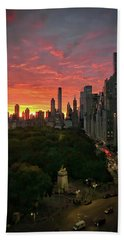 Morning In The City Beach Towel