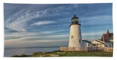 Morning Light At Pemaquid Point Beach Towel