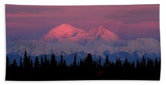 Morning Light On Denali Beach Towel