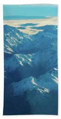 Morning Light On The Southern Alps Beach Towel by Steve Taylor
