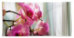 Morning Light Orchids Beach Towel