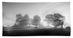 Beach Sheet featuring the photograph Morning Lights Bw by Bill Wakeley