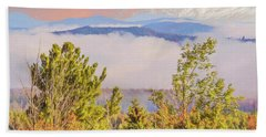 Morning Mountain View Northern New Hampshire. Beach Towel