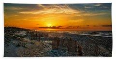 Morning On The Bogue Banks Beach Sheet