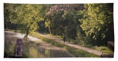 Beach Towel featuring the photograph Spring Morning On The Canal by Samuel M Purvis III