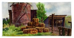 Morning On The Farm Beach Towel