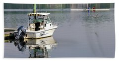 Beach Towel featuring the photograph Morning On The Navesink River 2 by Gary Slawsky