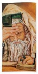 Morning Prayer Beach Towel by Itzhak Richter