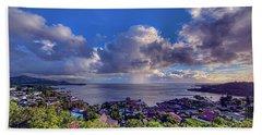Morning Rain In Kaneohe Bay Beach Sheet