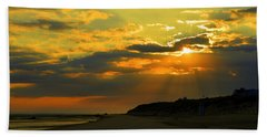 Morning Rays Over Cape Cod Beach Sheet