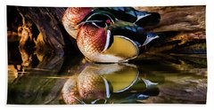 Morning Reflections - Wood Ducks Beach Towel