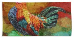 Morning Rooster Beach Towel