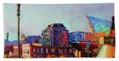 Morning Rush - The Corner Of Salem Avenue And Williamson Road In Roanoke Virginia Beach Towel