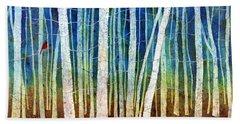 Tree Canopy Paintings Beach Towels