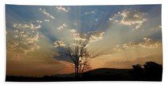 Morning Sun Rays Beach Sheet