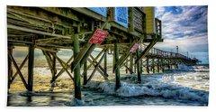 Morning Sun Under The Pier Beach Towel