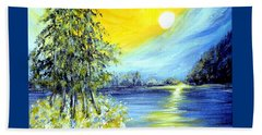 Morning Sunrise. Life Is Beautiful Beach Towel by Oksana Semenchenko