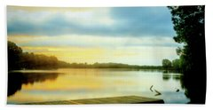 Morning Twilight Lakeside Beach Towel by Barry Jones