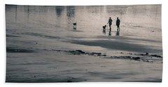 Morning Walk, Gooch's Beach, Kennebunk, Maine Beach Towel