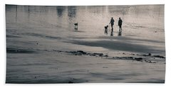 Morning Walk, Gooch's Beach, Kennebunk, Maine Beach Sheet