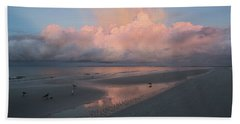 Morning Walk On The Beach Beach Towel