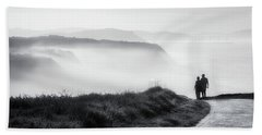 Morning Walk With Sea Mist Beach Towel