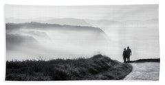 Morning Walk With Sea Mist Beach Towel