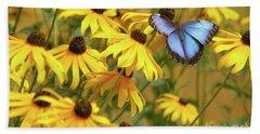 Morpho Butterfly Beach Sheet