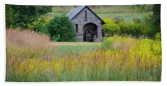 Beach Towel featuring the photograph Morris Arboretum Mill In September by Bill Cannon