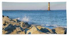 Morris Island Lighthouse Beach Towel