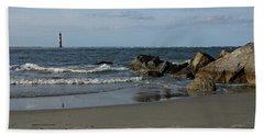 Beach Sheet featuring the photograph Morris Lighthouse by Sandy Keeton