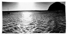 Morro Rock, Black And White Beach Sheet