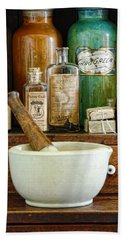 Mortar And Pestle Beach Towel by Jill Battaglia