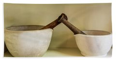 Beach Towel featuring the photograph Mortar And Pestle by Paul Freidlund