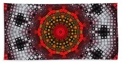 Beach Towel featuring the digital art Mosaic Kaleidoscope 2 by Shawna Rowe