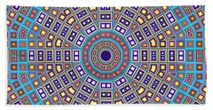 Beach Towel featuring the digital art Mosaic Kaleidoscope  by Shawna Rowe