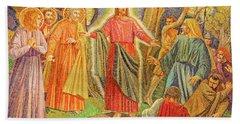 Mosaic Of Arresting Of Jesus Beach Towel