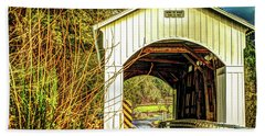 Mosby Creek Bridge Beach Towel