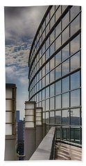 Beach Towel featuring the photograph Moscone West Balcony by Darcy Michaelchuk