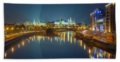 Moscow Kremlin At Night Beach Sheet