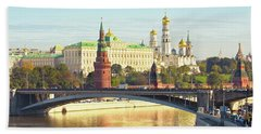 Moscow, Kremlin Beach Sheet by Irina Afonskaya
