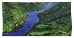Beach Towel featuring the painting Moselle River by Jamie Frier