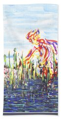 Moses In The Rushes Beach Towel